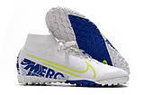 Сороконожки Nike SuperflyX VII Elite TF white/blue new, фото 4