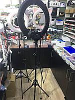 Кольцевая селфи лампа 54 см для макияжа на штативе RTAKO RL-21 / 65W