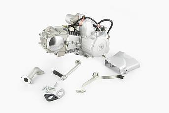 Двигатель (В сборе)  на Мопед Дельта (Deltа) 125 см³ (Механическая коробка передач 157FMH, алюминиевый