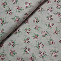 Бязь с букетиками на розовом, ширина 220 см, фото 1