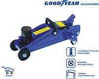 Гидравлический подкатной домкрат Goodyear GY-PD-01К 1.8Т 320мм с резин. проставкой порога пластиковый кейс