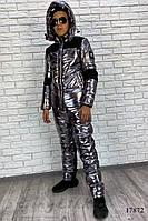 Комбинированный костюм серебро с черным Юниор, фото 1