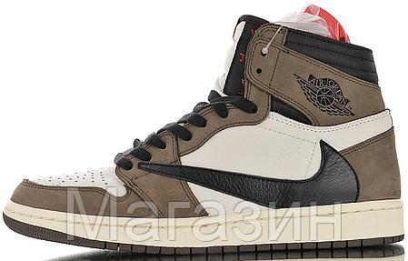 Мужские кроссовки Nike Air Jordan 1 Retro High Cactus Jack Travis Scott Найк Аир Джордан 1 Ретро Кактус Джек, фото 2