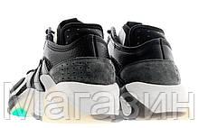Мужские кроссовки Adidas Streetball Black/White/Aqua Адидас Стритбол черные, фото 3