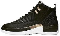Мужские баскетбольные кроссовки Nike Air Jordan 12 Reptile Midnight Black Найк Аир Джордан 12 Ретро черные