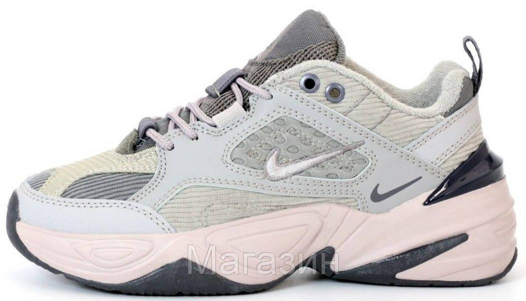 Женские кроссовки Nike M2K Tekno Light Grey Найк М2К Текно серые