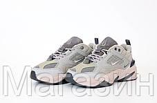 Женские кроссовки Nike M2K Tekno Light Grey Найк М2К Текно серые, фото 3