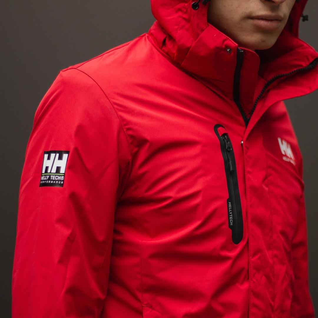 Демисезонная куртка мужская красная, Helly Hansen. Размер XL