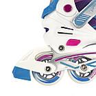 Роликовые коньки Nils Extreme NA1160A Size 39-42 Purple/Blue, фото 8