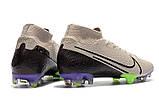 Бутсы Nike Mercurial Superfly VII Elite FG grey/ultrablue, фото 3