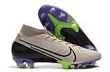 Бутсы Nike Mercurial Superfly VII Elite FG grey/ultrablue, фото 4
