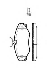 Колодки тормозные перед. TRAFIC/VIVARO 65-200-013