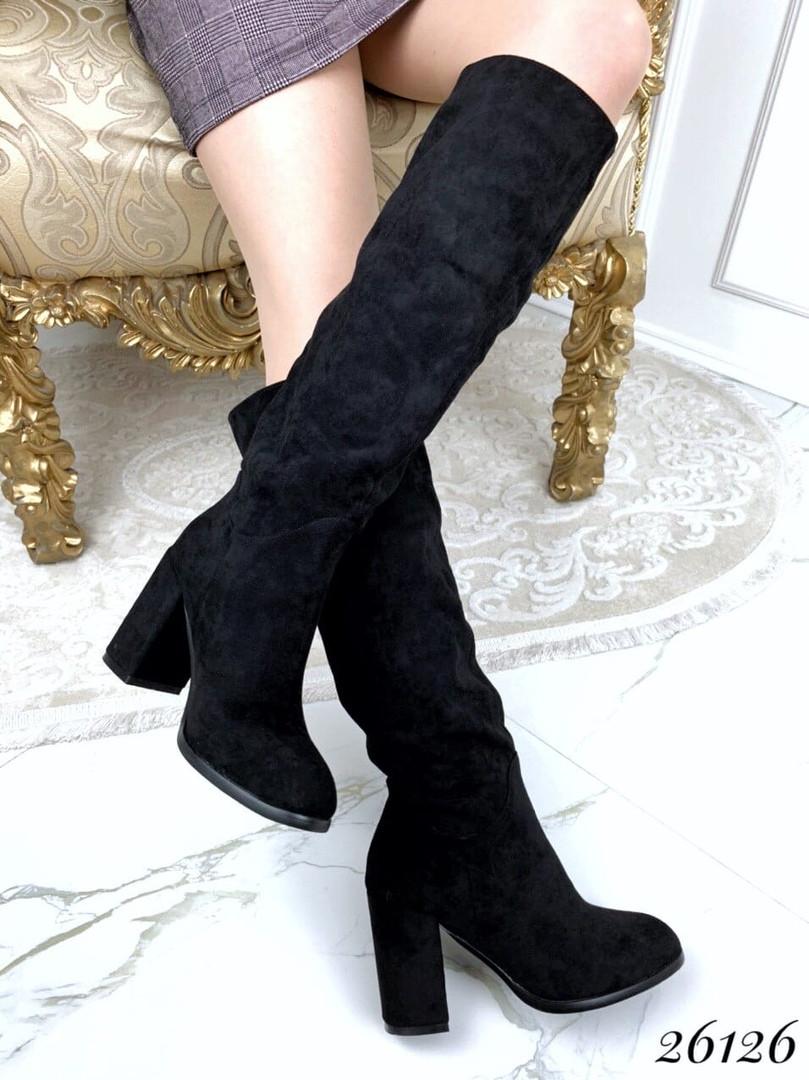 Сапожки женские на каблуке 40 размеры