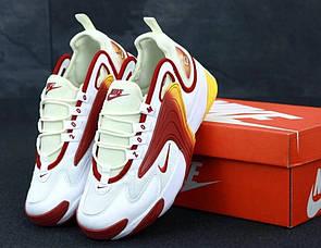 Мужские кроссовки Nike Zoom 2K белые с красным