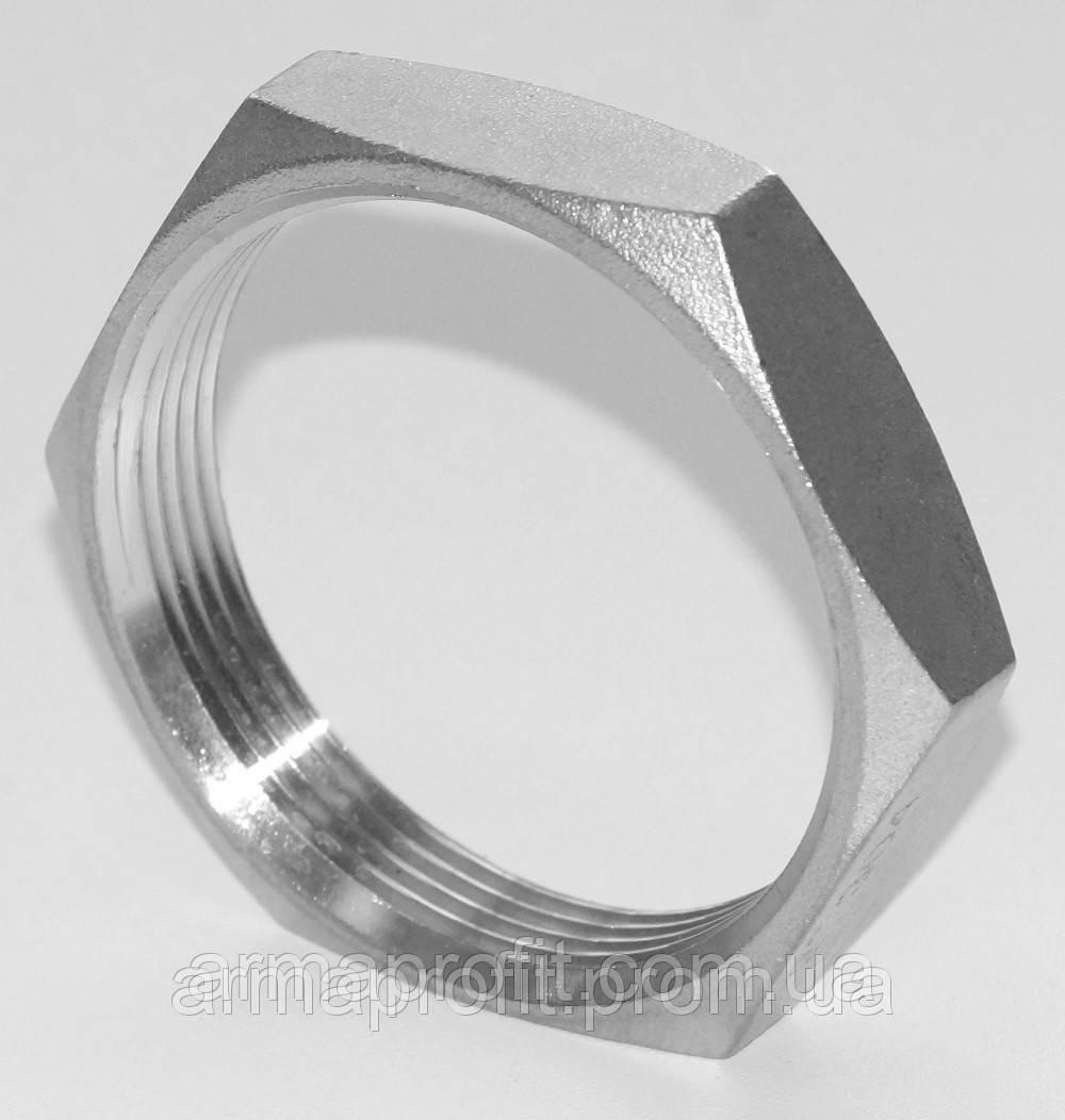 Контргайка шестигранная нержавеющая G⅜'' AISI304 Ду10
