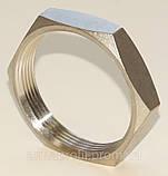 Контргайка шестигранная нержавеющая G⅜'' AISI304 Ду10, фото 4