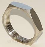 Контргайка шестигранная нержавеющая G⅜'' AISI304 Ду10, фото 5