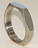 Контргайка шестигранная нержавеющая G⅜'' AISI304 Ду10, фото 6