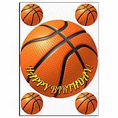 Баскетбольный мяч вафельная картинка