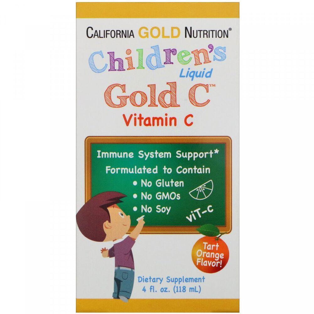 California Gold Nutrition Детский жидкий витамин С Children's Liquid Gold C