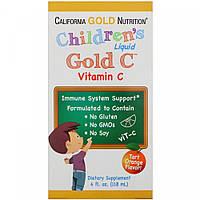California Gold Nutrition Детский жидкий витамин С Children's Liquid Gold C, фото 1