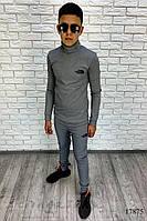 Удобный серый костюм на подростка, фото 1