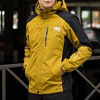 Демисезонная куртка мужская желтая, Helly Hansen. Размер XXL и XXXL