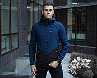 "Мужская куртка Pobedov Soft Shell Jacket ""Romka"" (Navy-Black)"