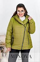 Короткая демисезонная куртка цвет горчица Украина батал Размеры: 50-52, 58-60, 62-64