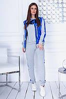 Женский спортивный костюм осень-весна тройка с жилетом, двухнитка Турция