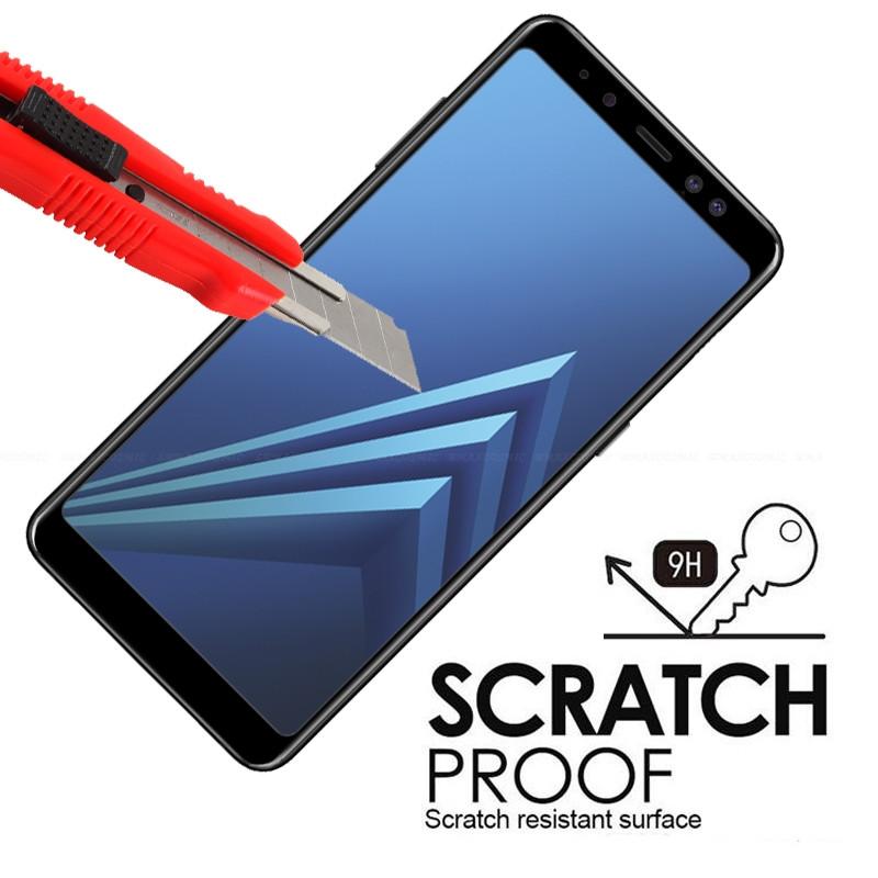 Защитное цветное 3D стекло Mocolo для Samsung A730 Galaxy A8+ (2018)