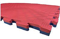 Коврик-пазл EVA,  татамі ластівчин хвіст, червоно-блакитний т. 20 мм, розмір 100х100 см, щільність 80 кг/м3
