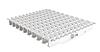 Переливная решетка AquaViva OS-01 Grift Ocean с центральным соединением 195x25 мм (белая)