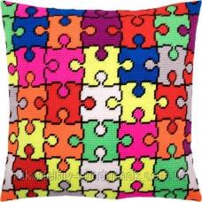 Набір для вишивки хрестом Чарівниця V217 Подушка Мозайка