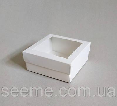 Коробка подарочная с окошком 120x120x50 мм.