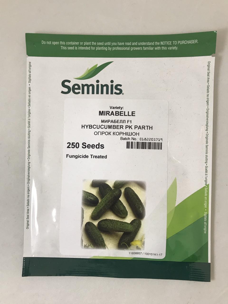 Семена огурца Мирабелл F1 250 шт. (Seminis) 4128102