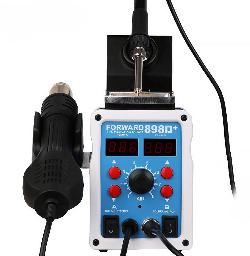 Паяльная станция Forward 898D+ паяльный фен, паяльник. турбинная 700 Вт