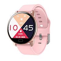 Умные часы фитнес браслет Lemfo K9 с измерением сердечного ритма и давления (Розовый), фото 1