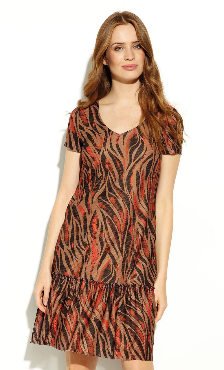 Платье Rasha Zaps цвета кэмел. Коллекция весна-лето 2020