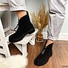 Ботинки женские демисезонные черные эко-замша :), фото 3