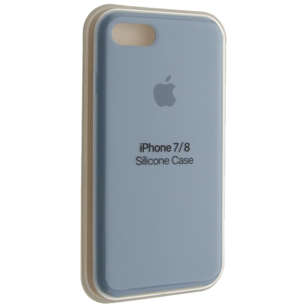 "Чехол Silicon iPhone 7 - ""Кремово-лиловый №5"""