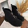Ботинки женские демисезонные черные эко-замша :), фото 8