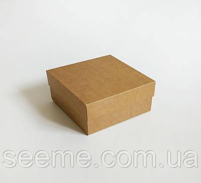 Коробка из крафт картона 120x120x50 мм.