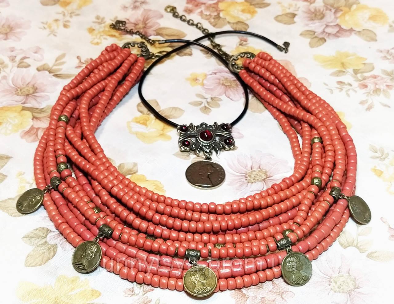 Глиняне намисто з дукачами