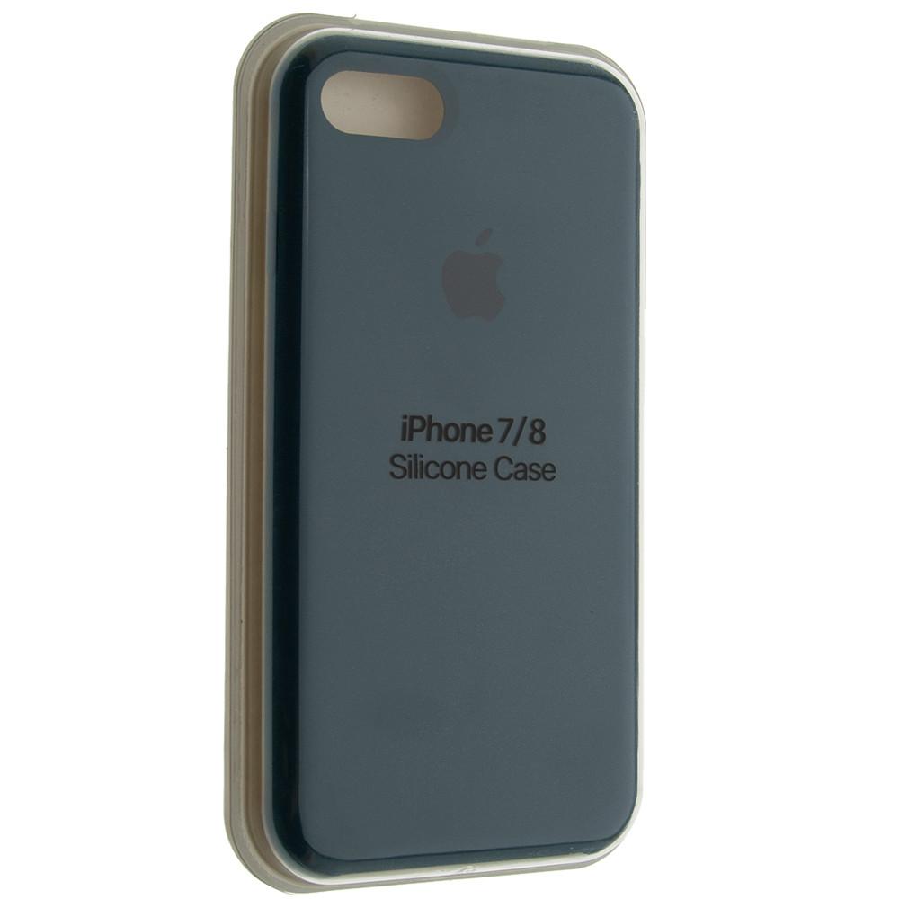 "Чехол Silicon iPhone 7 - ""Космический синий №35"""