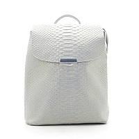 Женский кожаный светло серый рюкзак, нат кожа