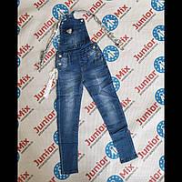 Подростковые джинсовые брюки комбинезоны для девочек оптом  MUA GIRL