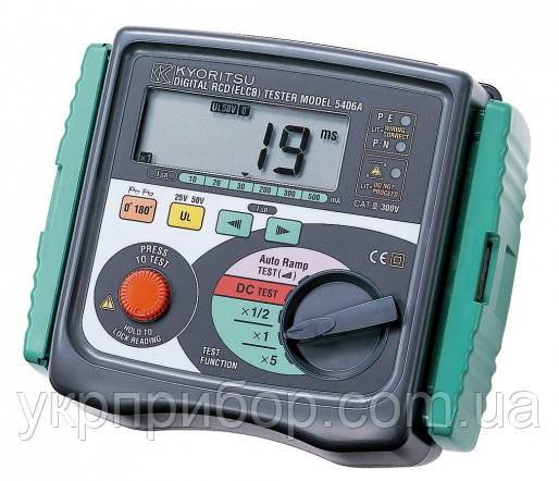 Kyoritsu KEW Model 5406A - Цифровой измеритель параметров устройств защитного отключения (УЗО)