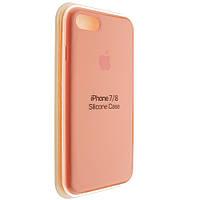 """Чехол Silicon iPhone 7 - """"Ярко-оранжевый №42"""""""