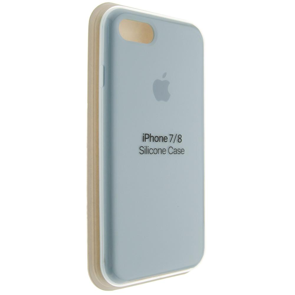"""Чехол Silicon iPhone 7 - """"Небесно-голубой №43"""""""